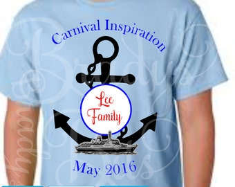 Family Cruise T-Shirts PERSONALIZED