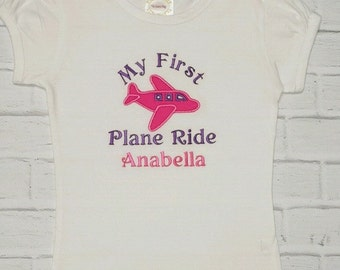 """Vacation """"My !st Plane Ride"""" Onesie Shirt Tank Infant Toddler Child  Boy or Girl Choice of Color"""