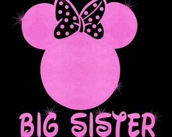 Minnie Mouse Big Sister SVG JPEG instant digital file download for vinyl cutters