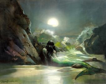 Mike Hoffman Exotic South Pacific Island Art Canvas Giclee Print MERMAID SEA REVERIE!