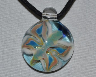 Glass Butterfly Pendant -Boro Glass Hand Blown Necklace- Focal Bead- Glass Jewelry- Kyle Keeler