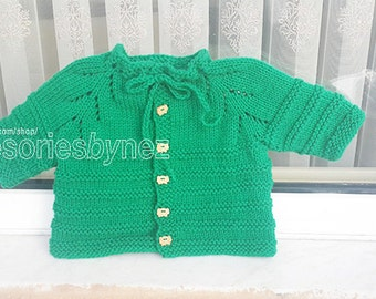 Baby Cardigan Pattern, Baby Knitting Pattern,Cardigan Sweater, Baby Cardigan Coat, Baby Sweater Knitting Pattern, Baby Garment