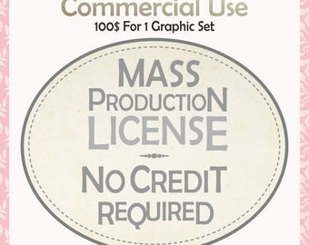 ON SALE No credit require License,Mass production License,for clip art and graphics,Commercial Use