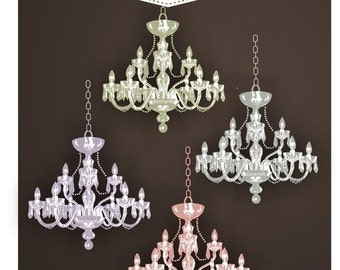 ON SALE Clip art chandelier,digital clipart, INSTANT Download, personnel and commercial use
