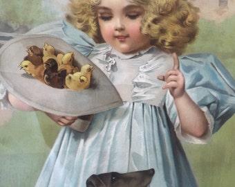 "1897 victorian lithograph ""Be Carefull Sir"""