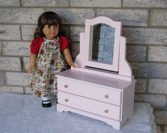 "2 Drawer Dresser for 18"" Dolls - Pink or White - Ready to Ship"