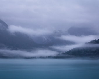 Entering a Cloudy Glacier Bay National Park - Fine Art Print