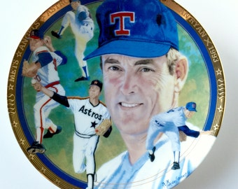Nolan Ryan Vintage Plate The Hamilton Collection Strikeout Express Limited Edition With Certificate of Authenticity Genuine Merchandise 1993