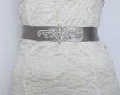 Silver Crystal Rhinestone Bridal Sash,Wedding sash,Bridal Accessories,Bridal Belt,Style #33
