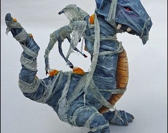 OOAK Dragon Halloween Art Ooak Mummy Dragon Sculpture