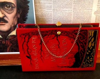 Book Clutch Edgar Allan Poe Tales of Mystery and Imagination Book Purse Made to Order