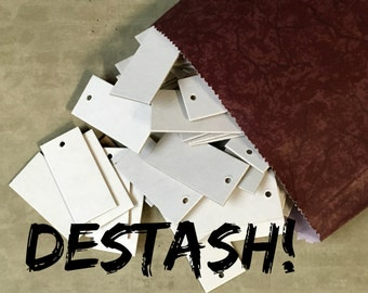 DESTASH Tags ... Small Heavyweight White Chipboard Tags Price Tags Hang Tags Product Tags Etsy Seller Supplies Blank Tags Clearance Sale