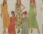 McCalls 9271 Uncut Sewing Pattern Misses Womens Dress in 2 Lengths, Empire Waist, Size 10-12-14, 1998