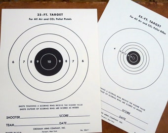 50 vintage paper targets Bullseye paper targets Bullseye targets, Bulls eye paper targets Target shooting Black and white target
