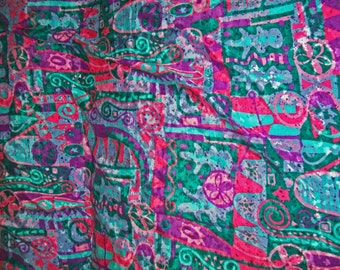 Vintage Thompson of California Dress Fabric - Psychedelic Colors