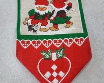 Jute Wall Hanging Christmas Swedish vintage