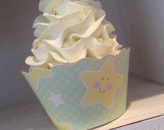 Baby Shower Cupcake Wrappers SALE Gender Neutral Gender Reveal