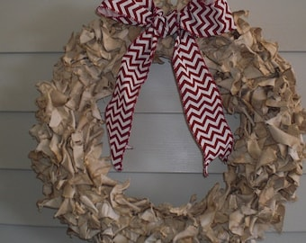 Natural Fabric Wreath