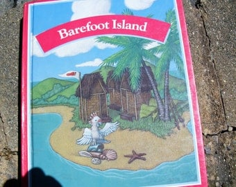 Vintage Text Book Barefoot Island Elementary School Reading Text Book