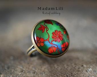 Retro Spring Bronze Ring
