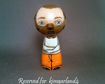 Reserved for kimgarland Hannibal Lecter Doll Horror Kokeshi