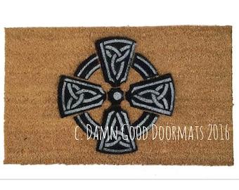 Celtic Cross Irish doormat knot