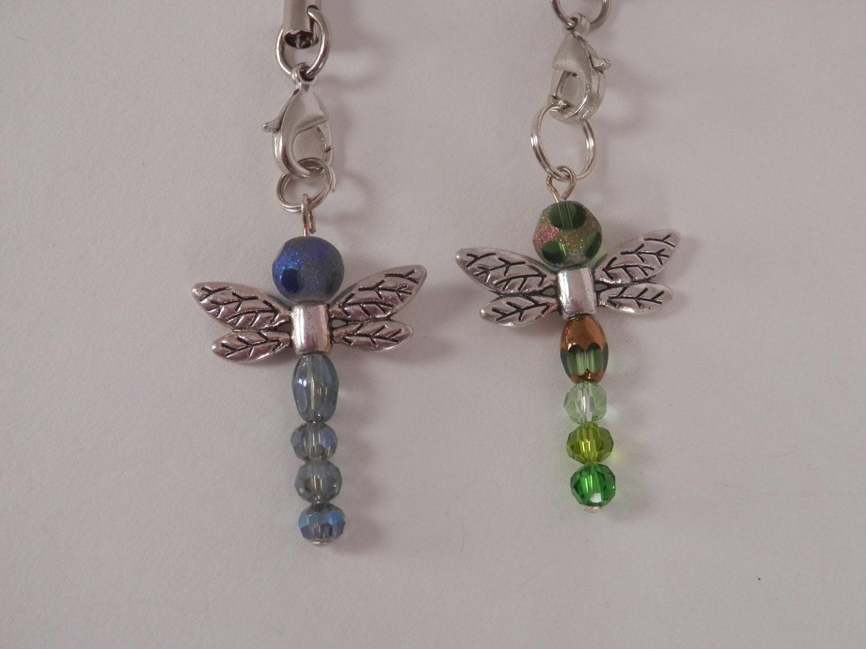 dragonflys cell phone charms zipper pulls handbag charms