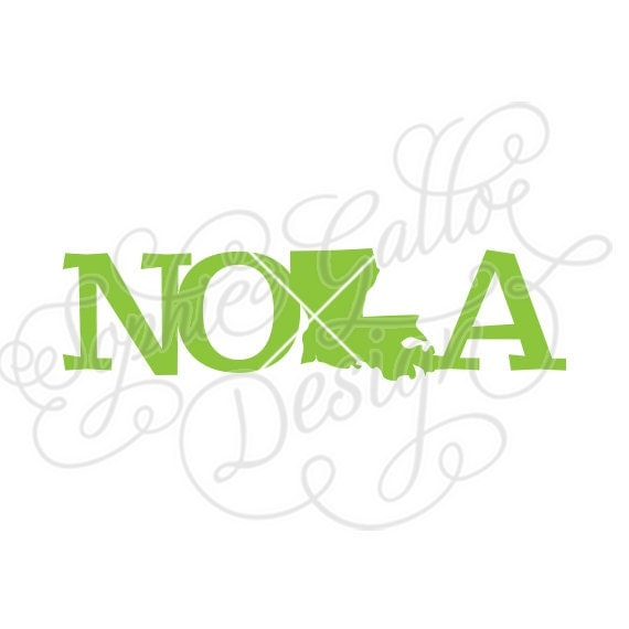 Nola Title Louisiana State Svg Dxf Png Digital Download File
