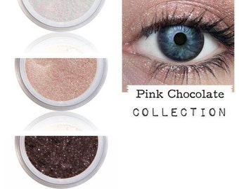 Eyeshadow Palette, Pink Chocolate, Pink Brown Eye, Matching Eye Shadow, Mineral Eye Colors, Organic Eye Shadow, Pink Brown Shimmer, Eyes