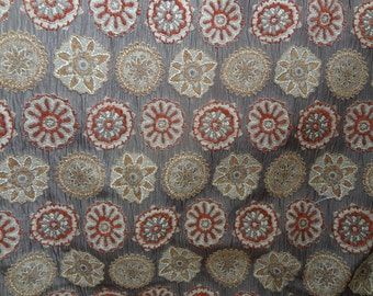 """Medalion, Upholstery Fabric-54"""" Width,Price for 1 yard cut,Upholstery,Pillows,Bags.Greenhouse Fabric.High Quality.You Pay Shipping."""