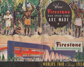 How Firestone High Speed Tires are Made 1934 Booklet Chicago World's Fair