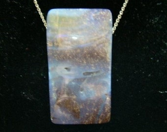Australian Boulder Opal Pendant with Sterling Silver Chain