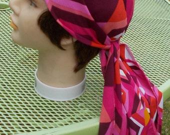 XL STRETCH Knit DORAG Womens Long Tieband Stretch Chemo Biker Welder Doo Rag