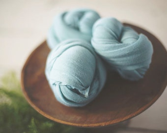 Newborn Stretch Knit Wrap - Newborn Knit Wrap - SALTWATER - Stretch Wrap - Stretch Knit Wrap - Photo Prop