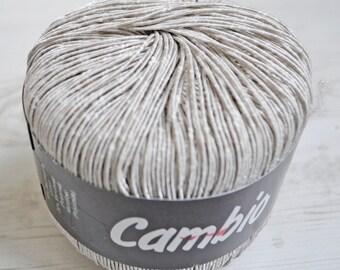 Knitting  yarn, Destash yarn, beige, DK, Light, Worsted weight, Y203