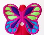 Butterfly Wings. Felt, No Wire. Fuchsia, Turquoise, Neon Green, Purple Fairy Goddess. Anjett Style. Original design.