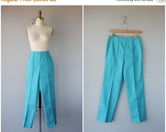 25% OFF SALE... 1960s Pants | 60s Pants | High Waisted Pants | Cropped Pants | High Rise Trousers