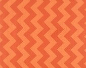 STORE CLOSING SALE Riley Blake Designs Basics Medium Chevron, Orange Tone on Tone- 1 yard
