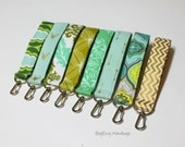 Key Chain / Key Fob - Swivel Clasp Key Wristlet - Choose Your Fabric - Winter Green and Aqua Collection  - Arrows - Buck - Sale