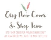 The new Etsy Shop Cover and Shop Icon for all previous orders / Designs from Simply Creative - ONLY for previous orders