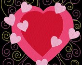 SWEETHEARTS #10- 1 Machine Embroidery Design Instant Download 4x4 5x7 6x10 hoop (AzEB)