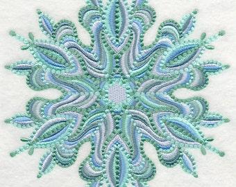 SNOWFLAKE PRISM - Machine Embroidered Quilt Block (AzEB)