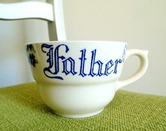 Vintage Transfer Ware Shaving Mug - for Father
