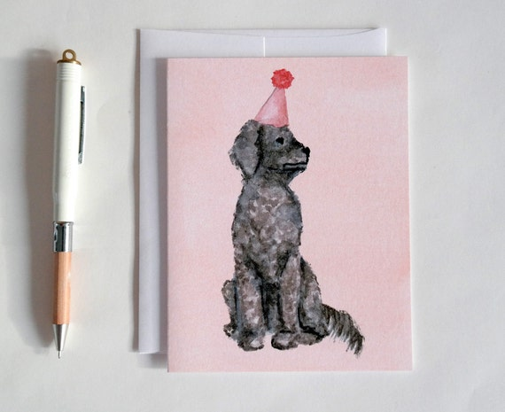 Greeting Card: Party Dog III