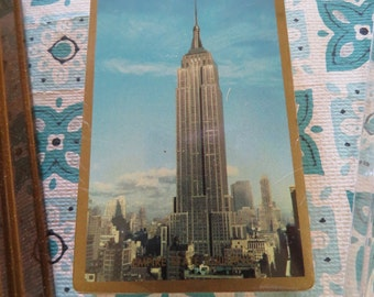 Fun Vintage Empire State Building Playing Cards and Cribbage Game