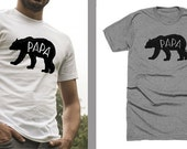 private listing - papa bear in athletic heather - light gray - size large