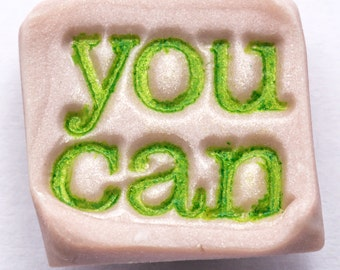 Sale / On Sale / Clearance / Marked Down / YOU CAN Motivational Handmade Light Green Polymer Clay Magnet - MG00026