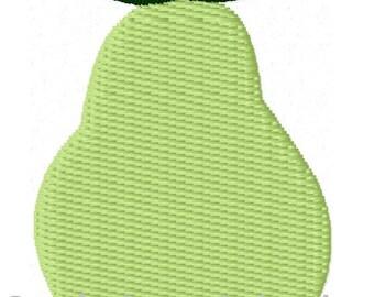 Pear Mini Machine Embroidery Design