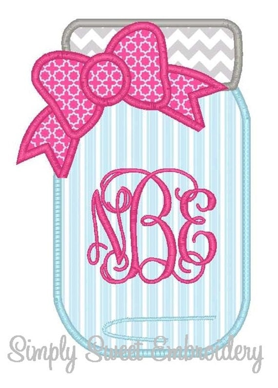 monogram applique machine