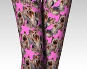 Pink Yorkie Leggings